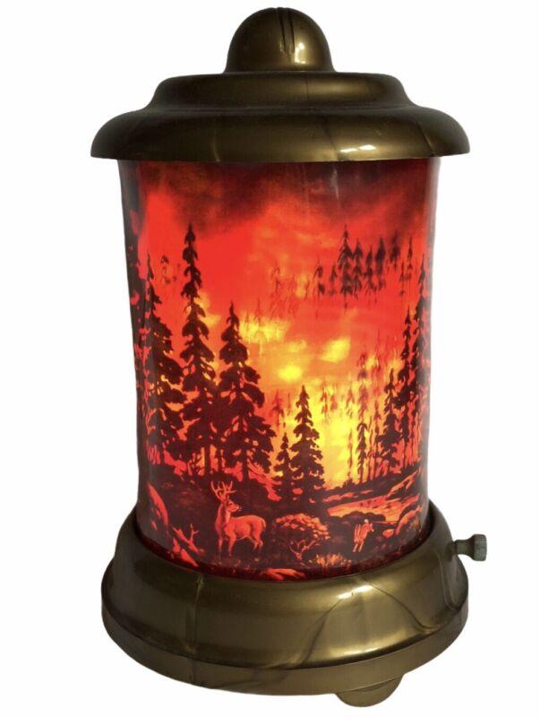 """Motion Lamp Forest Fire Complete Econolite Roto-Vue 9"""" Leech 1949 Vintage"""