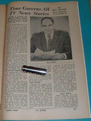 1963 Wgal Tv Article Bill Wright News Reporter In Lancaster Pennsylvania 7 X 10