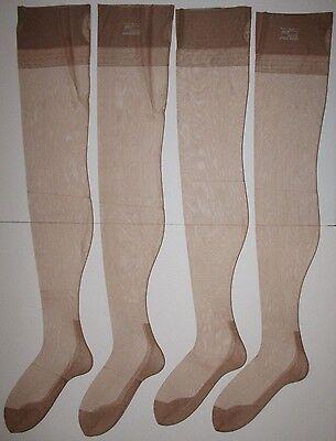 NEW VTG Lot 2 Pairs DuPont Nylon Seamed Stockings 60 Gauge 30 Denier Cuban Foot