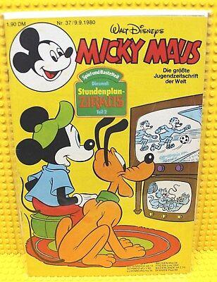 Walt Disney® Micky Maus Nr 37 von 1980 mit Schnipp und Beilage