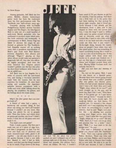 1973 Jeff Beck - 3-Page Vintage Guitar Article