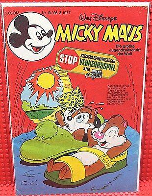 Walt Disney® Micky Maus Nr 13 von 1977 mit Schnipp und Beilage