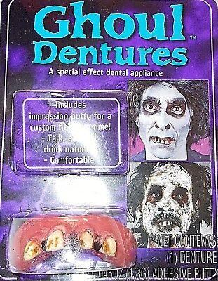 Halloween: GHOUL DENTURES FALSE Rotten TEETH Monster, Hick, Bubba, Billy Bob NEW (Hick Costume Halloween)
