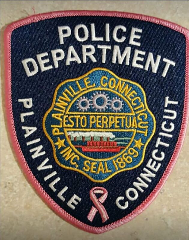 Plainville, CT Police Pink Breast Cancer Awareness Police Patch