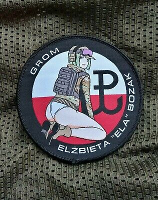 - Rainbow Six: Siege, Ela, Female Soldier, Military Morale Patch, Polish GROM