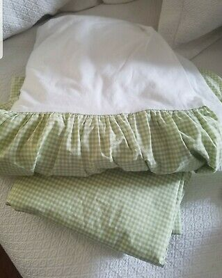 Used, POTTERY BARN KIDS Green Gingham Duvet Cover Twin Size Check for sale  Charleston