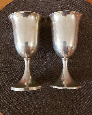 Preisner Sterling Silver Footed Water Goblet set #5 Discontinued 6 1/2