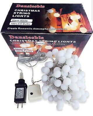 Christmas lights decoration Danslesbls LED 100 Globe String 43 ft outdoor indoor Indoor Christmas Decorations