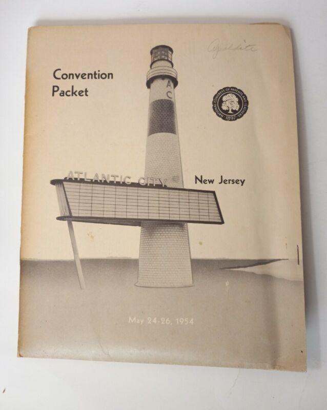Vtg 1954 National Congress of Parents & Teachers Convention Pkg Atlantic City NJ