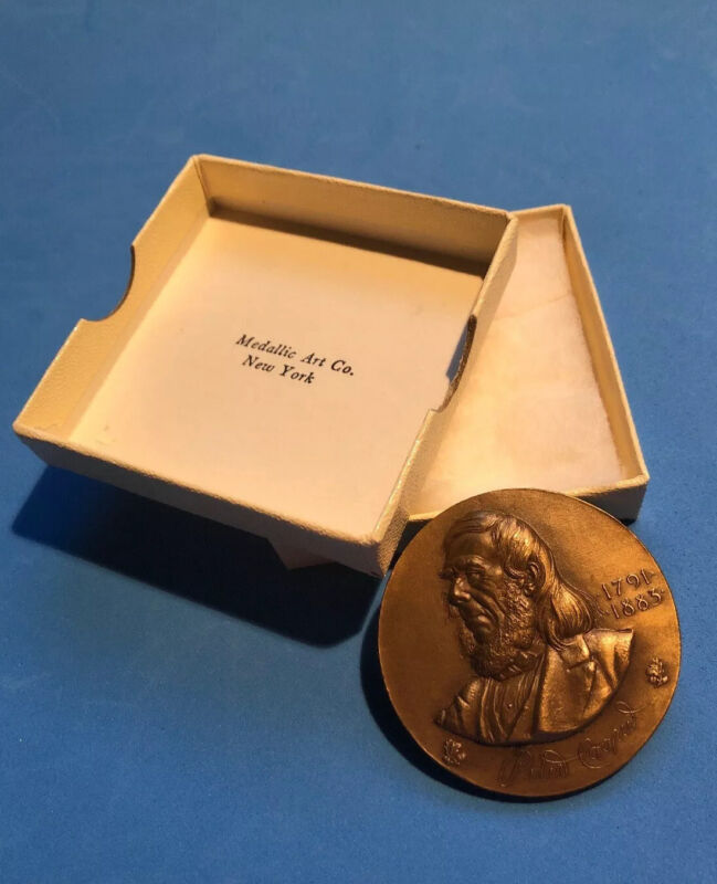 Peter Cooper Hall of Fame at NYU 1964 - 45 mm Bronze by Medallic Art Co. w box
