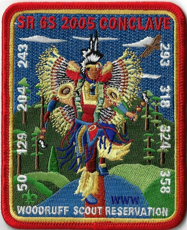 OA SR6S 2005 Conclave Woodruff Scout Reservation RED Bdr. [MX-8048]