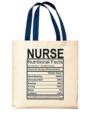 ER Nurse Gifts Nurse Nutritional Facts Label RN Nurse Gifts for Canvas Tote Bag