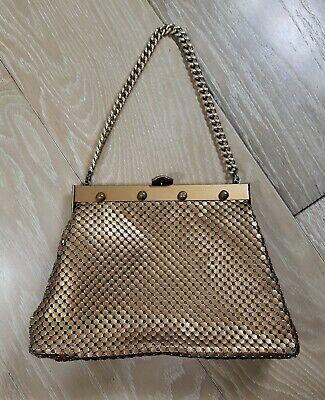 1940s Handbags and Purses History Vintage 1940's Whiting Davis Mesh Hand Bag Chain Handle USA Made Bronze Color $43.71 AT vintagedancer.com