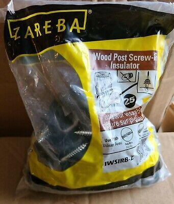 Zarebas Wood Post Screw-in Insulators Iwsirb-z