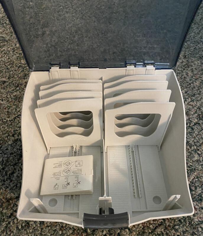 """Fellows Soft Works Diskette Tray Storage Case - White, Vintage 3.5"""" Floppy Disks"""