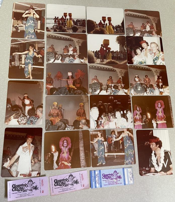 19 GERMAINES LUAU 1982 Photo Lot Al Harrington Tickets HAWAIIAN Hawaii Tiki Hula