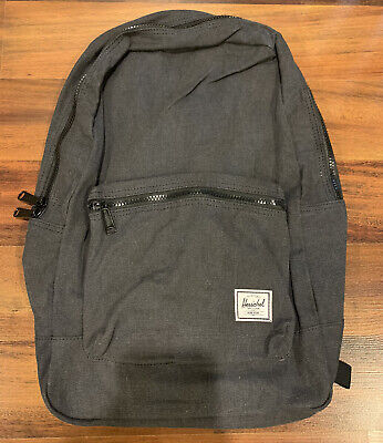 NEW Herschel Supply Co. Cotton Casuals Daypack Backpack Bag Black