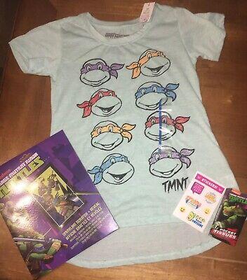 Girls Sparkly Ninja Turtle Sz L 10 12 Shirt Birthday Playset Justice Sticker Lot](Ninja Turtle Birthday Shirts)