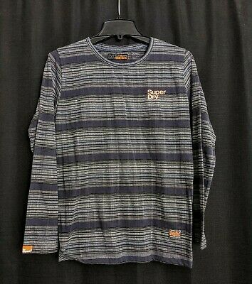 Superdry Navy Striped Long Sleeves t shirt size Small