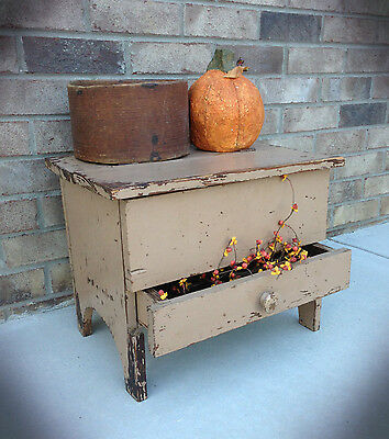 Primitive Shaker Storage Bench Cupboard Pattern WN163