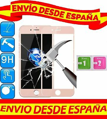 Protector Pantalla Cristal Templado COMPLETO ROSA APPLE IPHONE 6 6S 4.7 GAMUZAS