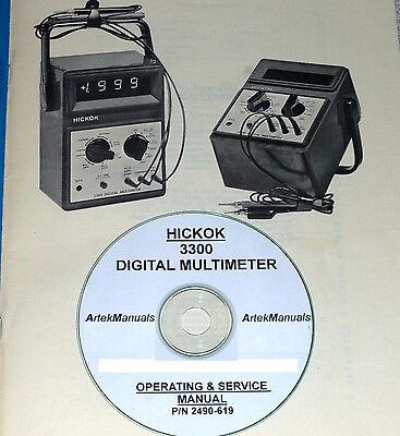 Hickok 3300 Digital Multimeter Manual Operating Service Schematics