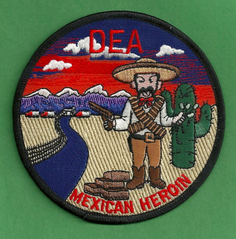 DEA DRUG ENFORCEMENT ADMINISTRATION MEXICAN HEROIN INTELLIGENCE PATCH