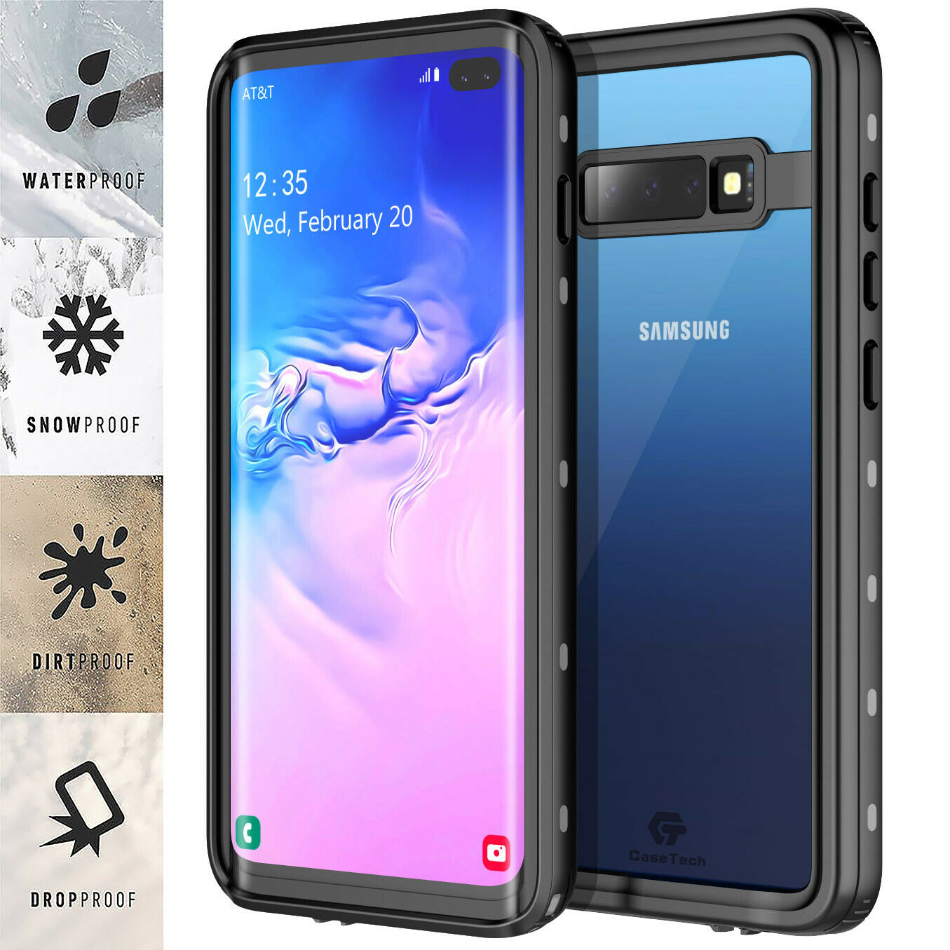 For Samsung Galaxy S10 Plus Case Waterproof Shockproof Heavy