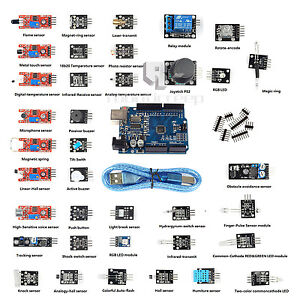 37 in 1 Sensor Modul Kit + UNO R3 ATmega328P CH340 for Arduino Compatible DEShip