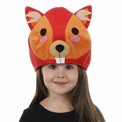 Red Squirrel Animal Beaver Beanie Hat Kawaii Costume Accessory Child or