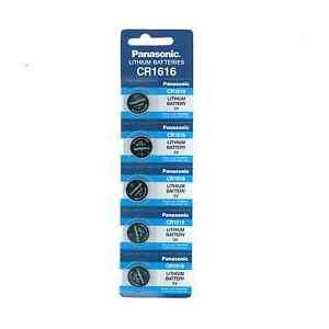5-PANASONIC-CR1616-ECR1616-CR-1616-3v-Lithium-Coin-Cell-Battery-Batteries