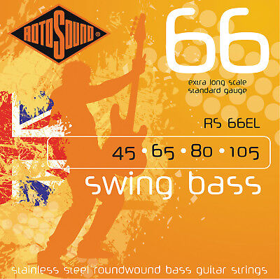 Extra Long Scale Bass (Rotosound RS66EL Swing Bass 66 Bass Guitar Strings - Extra Long)