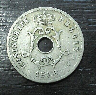 monnaie munt Belgique Belgie Leopold II 1906 sur/op  1905 légende flamande
