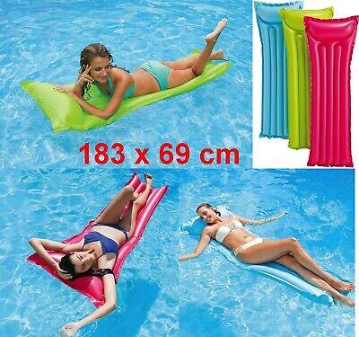 Colchoneta Hinchable con cojin integrado para piscina o playa intex 183 x...