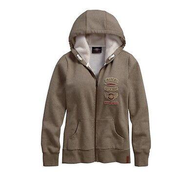 Harley-Davidson Sherpa Fleece Lined Damen Hoodie Gr. XXL-LADY - Sweatshirt, Grau