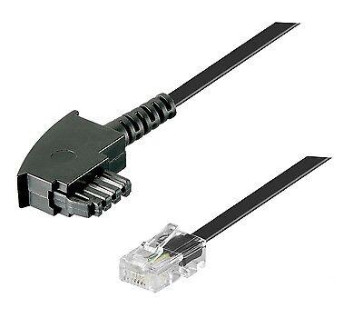 DSL Internet Router Kabel 3 m FritzBox Speedport EasyBox TAE F RJ45 schwarz 3m