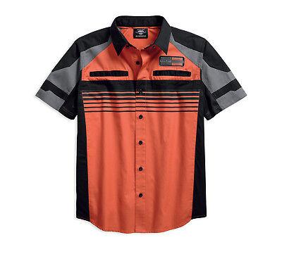 Vented Vent - Harley-Davidson Men's Performance Vented Stripe Short Sleeve Shirt 96116-18VM