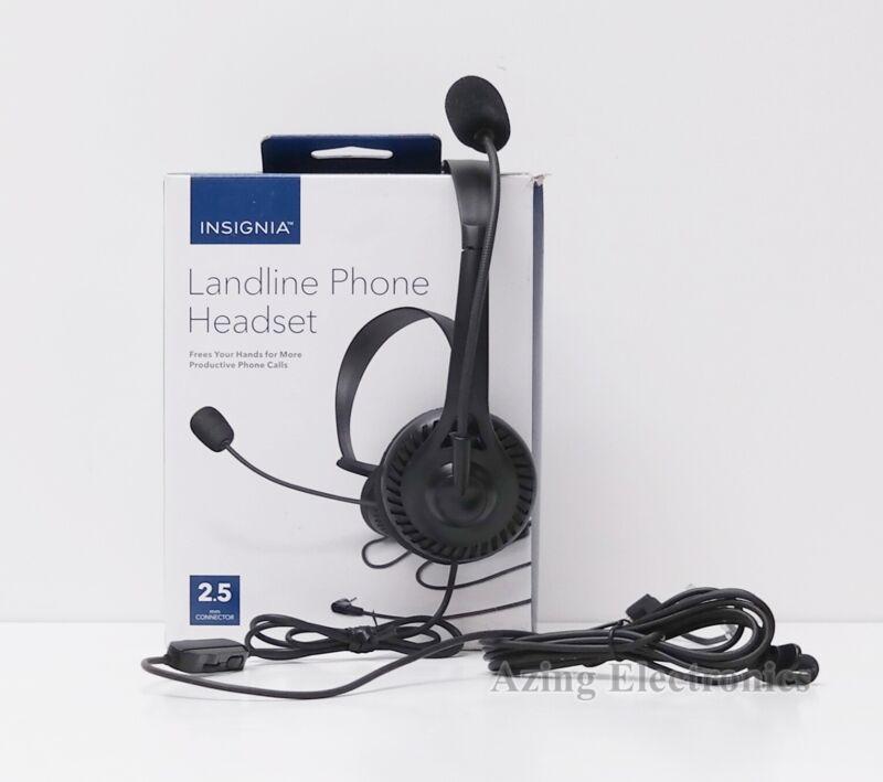 Insignia NS-MCHM25PB 2.5mm Landline Phone Headset