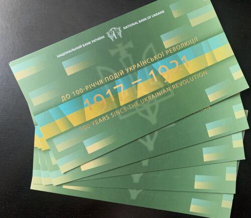 Ukraine 100  KARBOVANTSIV 2017-2018 P-New UNC in folder 5 PCS DEALER LOT