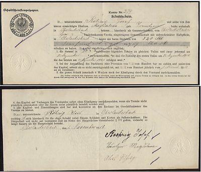 [19023] - OBERLAUTERBACH (Elsass), Schuldschein über 320 Mark vom 01.11.1913, ge