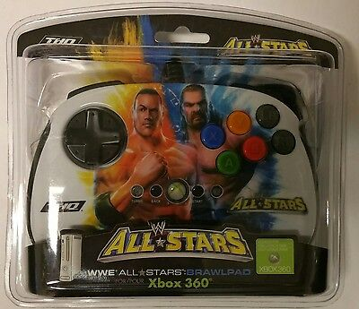 THQ Wwe All Stars Brawlpad Xbox 360 Controller The Rock H...