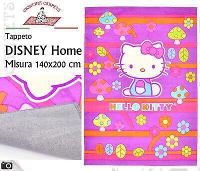 Tappeto Walt Disney 140x200 cm Hello Kitty cameretta Bambini Rosa Fucsia Q7