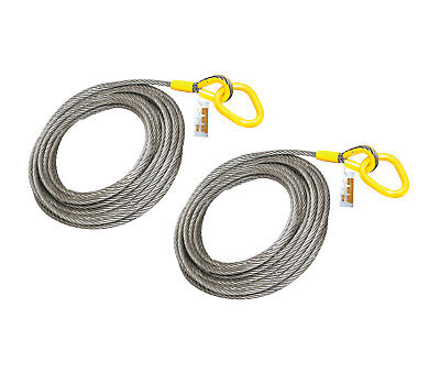 2 Pieces - Roll Off Cable For Container Truck 6x26 Steel Core 1 X 82