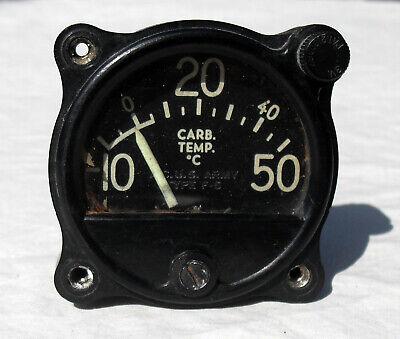 Carburetor Air Temperature Meter - 100 Ua - U.s. Army Type F5