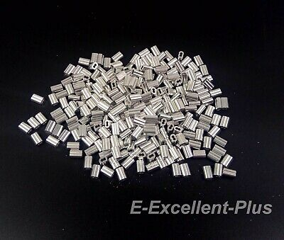 Aluminum Swage Sleeves Ferrules For 116 Wire Rope Cable 100 200 500 1000 Pcs