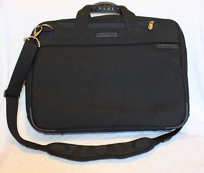 """BRIGGS & RILEY 17"""" Removable Laptop Briefcase Travel Business Carry On Bag"""