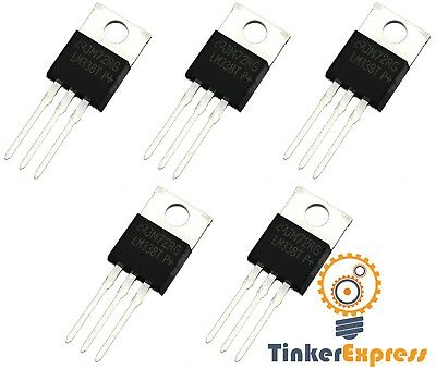 5pc Lm338t P Lm338 5a Voltage Regulator 1.2 - 32v Output Replaces Lm317 - Usa