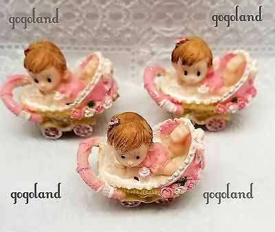 24 Baby Shower Carriages Figurines Favors Baby Shower Favors Figuras Boy - Baby Shower Carriage