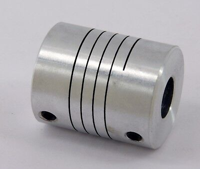 Flexible Parallel Cnc Coupling D25-l30-12.7x 12 Inch To 17mm