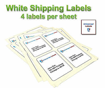Blank 4 X 5 Shipping Labels - Printable 4-up Rectangle Labels 1200 Labels